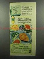 1948 Mazola Salad Oil Ad - Fish Dinner for Four