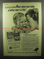 1948 Swift's Meats Baby Food Ad - A Better Start