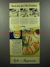 1951 Kraft Mayonnaise Ad - Grand Club Sandwiches