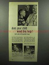 1951 Bosco Chocolate Syrup Ad - Does Child Need Help