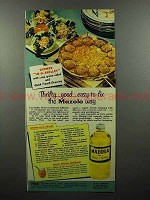 1951 Mazola Oil Ad - Thrifty, Good, Easy-to-fix