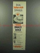 1952 Chef Boy-ar-Dee Spaghetti Dinner Ad!