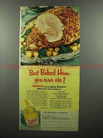 1953 French's Mustard Ad - Best Baked Ham Ever