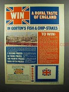 1969 Gorton's English Style Fish & Chips Ad - Royal