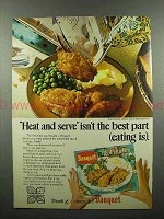 1970 Banquet Fried Chicken Frozen Dinner Ad!