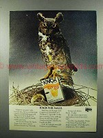 1973 Knox Gelatine Ad - Knox for Nails - Owl
