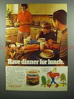 1974 Dinty Moore Beef Stew Ad - Dinner for Lunch