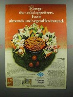 1977 Blue Diamond Almonds Ad - Forego Appetizers
