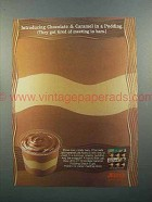 1998 Jell-O Chocolate Caramel Pudding Snack Cups Ad