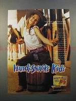 1998 Kraft Handi-Snacks Ad - Kids - Cowgirl