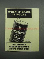 1936 Morton's Iodized Salt Ad - When it Rains It Pours