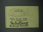 1936 Schilling Baking Powder Ad - Fluffy As Cloud