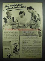 1943 Sperry Drifted Snow Flour Ad - Date Pinwheels