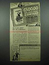 1944 Sperry Drifted Snow Flour Ad - War Bond Contest
