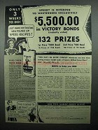 1945 Sperry Drifted Snow Flour Ad - Victory Bonds