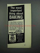 1959 Clabber Girl Baking Powder Ad - Important