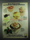 1972 Jell-O Soft Swirl Ad - Treated Family Like Company