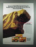 1986 Duncan Hines Peanut Butter Brownies Mix Ad