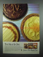 1986 Jell-O No-Bake Pies Mix Ad - Heat is Off