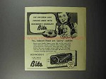 1944 Rockwood's Chocolate Bits Ad - Party Cookies