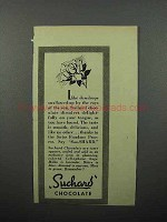 1944 Suchard Chocolate Ad - Like Dewdrops