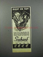 1944 Suchard Chocolate Ad - Right on Top!