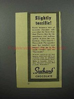 1944 Suchard Chocolate Ad - Slightly Terrific!