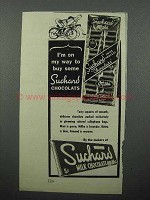 1945 Suchard Chocolate Ad - I'm On My Way to Buy