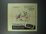 1945 Rockwood's Chocolate Bits Ad - They Stay Hot