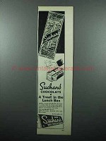 1946 Suchard Chocolate Ad - Treat in the Lunch Box