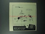 1946 Rockwood's Chocolate Bits Ad - Time Out Cookies
