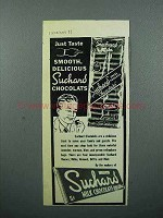1946 Suchard Chocolate Ad - Just Taste