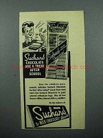 1946 Suchard Chocolate Ad - Treat After School