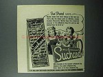 1947 Suchard Chocolate Ad - Sue Shard Says