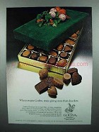 1978 Godiva Chocolate Ad - You're Giving More