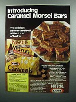 1978 Nestle's Chocolate Ad - Caramel Morsel Bars