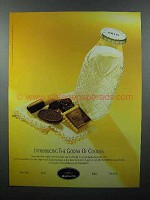 1999 Godiva Chocolate Biscuits Ad - Cookies