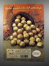 2000 Ferrero Rocher Chocolate Ad - Fall Gatherings