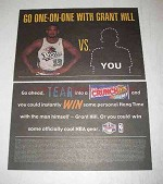 2000 Nestle's Crunch Bar Ad - Grant Hill