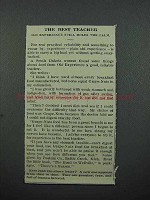 1913 Postum Grape-Nuts Cereal Ad - The Best Teacher