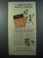1940 Ralston Cereal Ad - Vitamin B-1 Breakfast