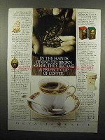 1989 Gevalia Coffee Ad - In The Hands of Stubborn Swede