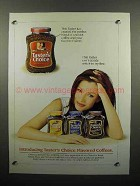 1999 Taster's Choice Coffee Ad - Flavored Coffees
