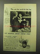 1944 Maxwell House Coffee Ad - Your Bit for Uncle Sam