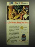 1945 Maxwell House Coffee Advertisement - Home for Christmas