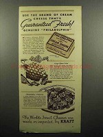 1935 Kraft Philadelphia Cream Cheese Ad - Fresh!