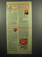 1952 Carnation Evaporated Milk Ad - Be a Better Cook