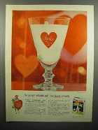 1956 Borden's Starlac Ad - The Heart of Milk