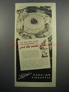 1936 Libby's Pineapple Ad - Just the Center Slices
