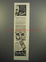 1937 Stokely's Grapefruit, Grapefruit Juice Ad - Fresh!
